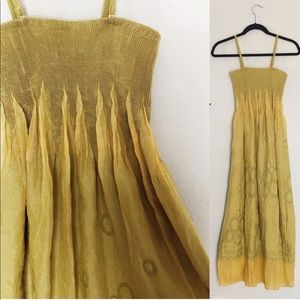 Pleated Lapis Festival Maxi Dress